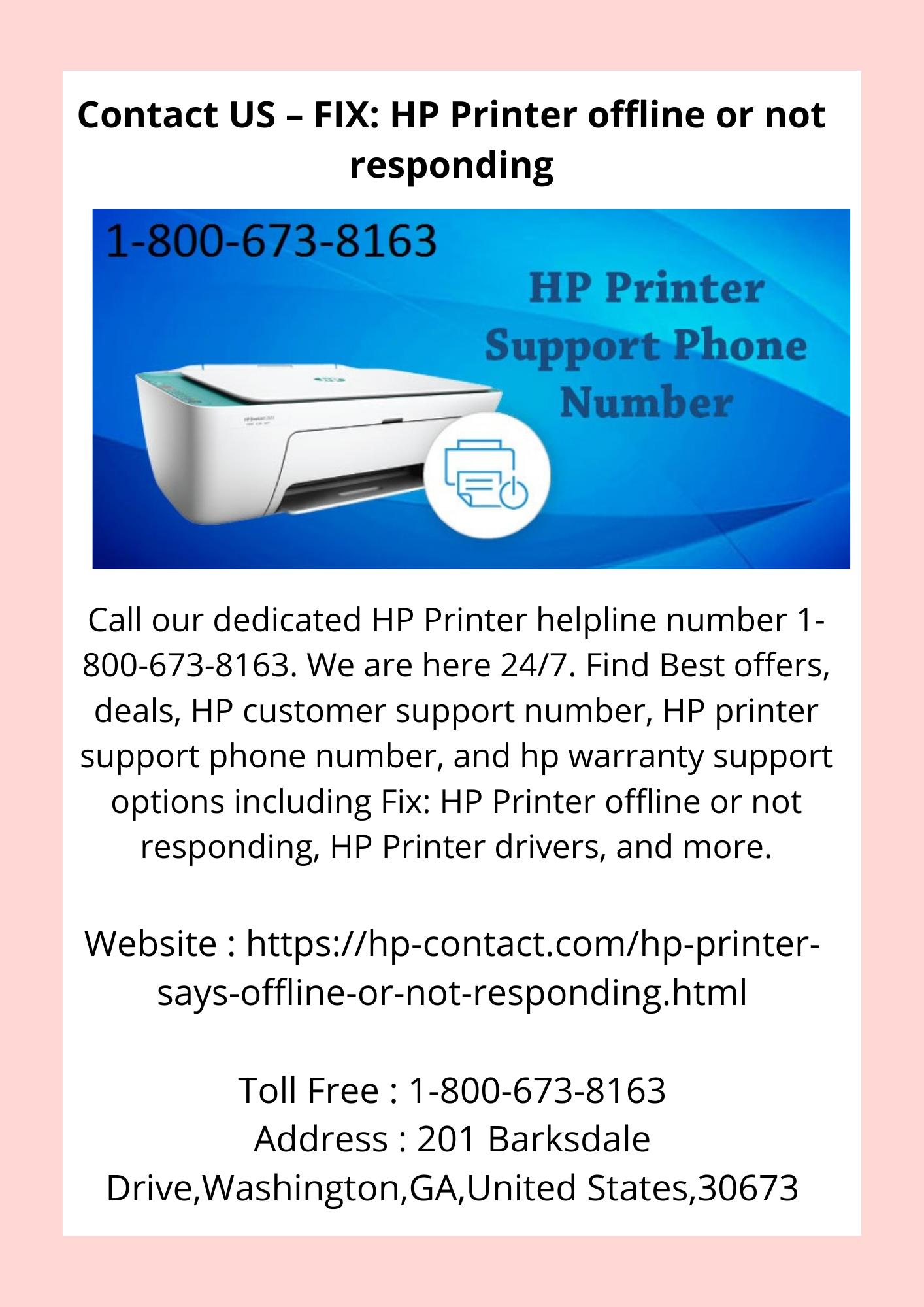 Contact US – FIX HP Printer offline or not responding