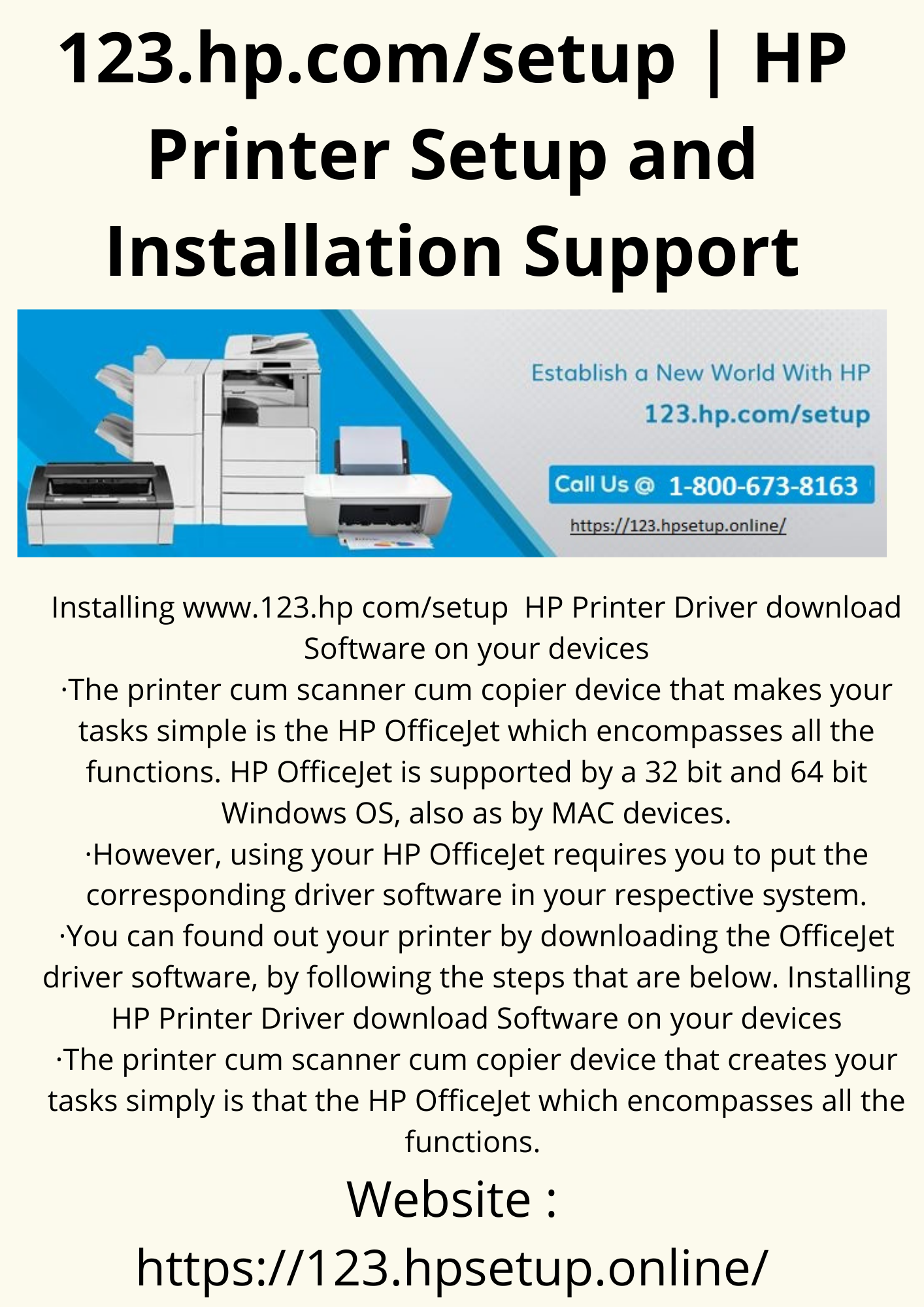 123.hp.comsetup HP Printer Setup and Installation Support