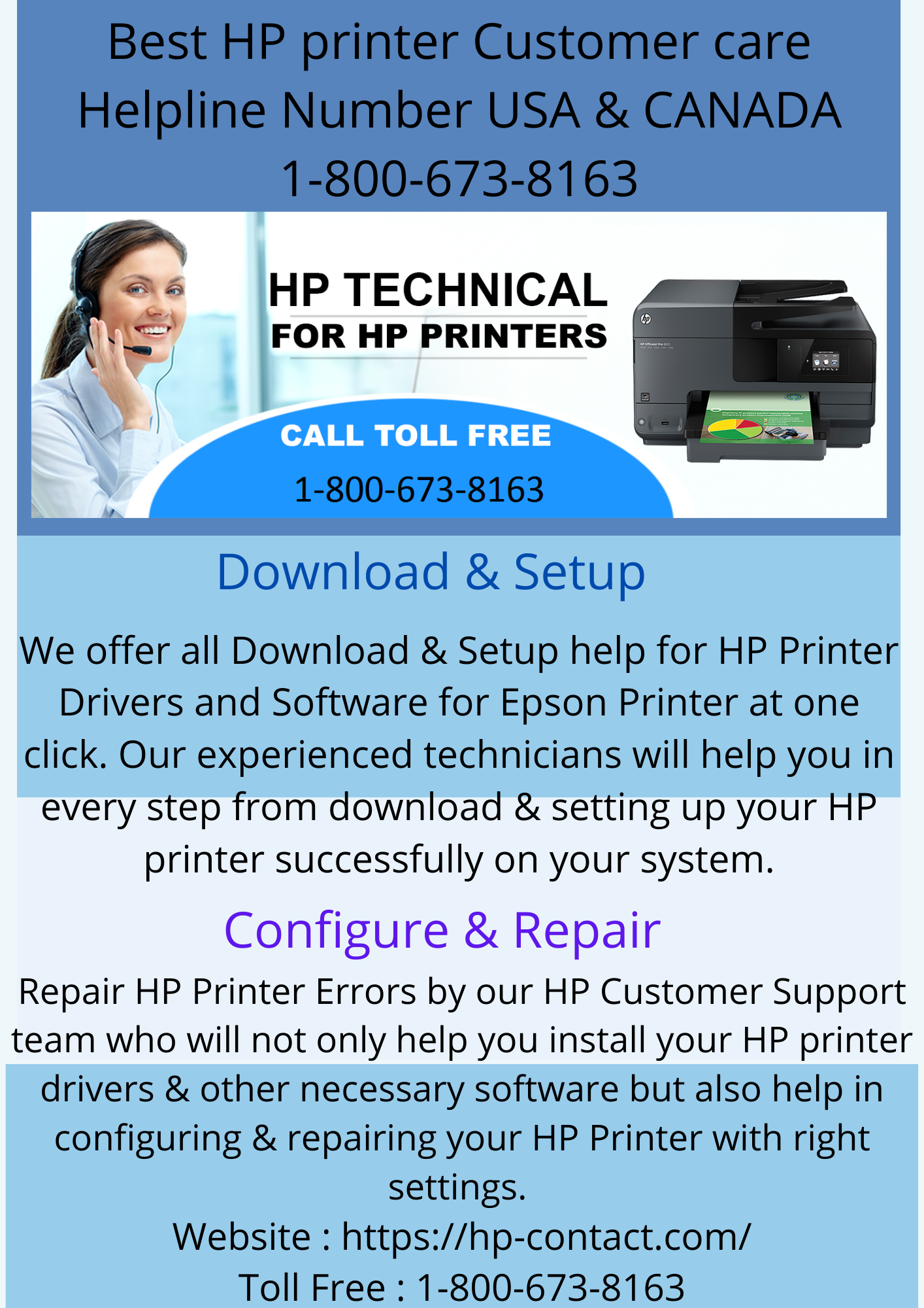 Best HP printer Customer care Helpline Number USA & CANADA 1 800 673 8163